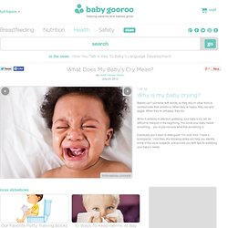 What Does My Baby's Cry Mean?