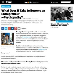 What Does It Take to Become an Entrepreneur?