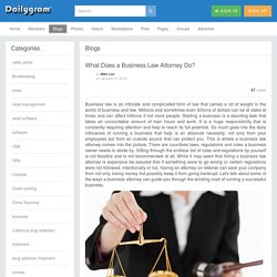 What Does a Business Law Attorney Do?