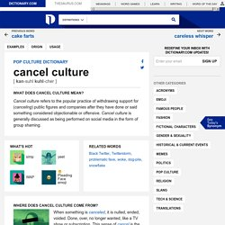 What Does Cancel Culture Mean?