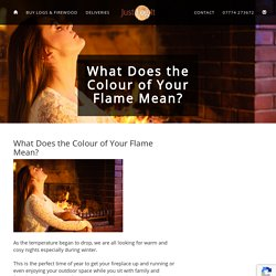 What Does the Colour of Your Flame Mean? · -