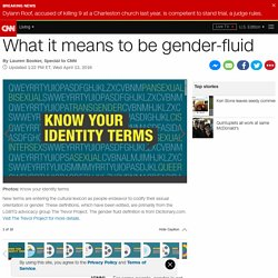 What does 'gender-fluid' mean?