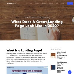 What Does A Great Landing Page Look Like in 2020?