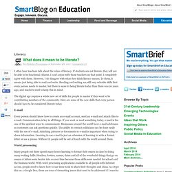 What does it mean to be literate? SmartBlogs