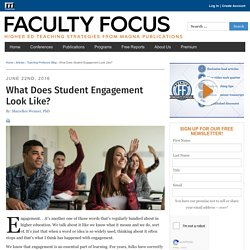 What Does Student Engagement Look Like?
