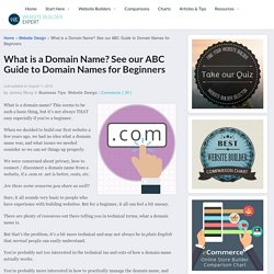 What is a Domain Name?  See our ABC Guide for Beginners