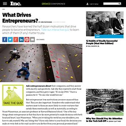 What Drives Entrepreneurs?