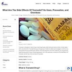What Are The Side Effects Of Tramadol?