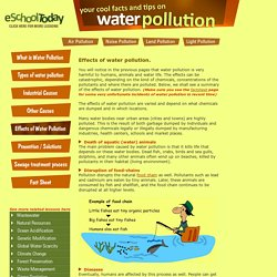 What are the effects of water pollution