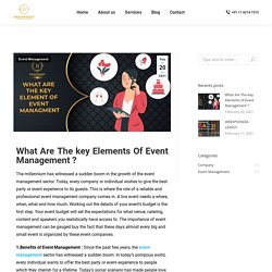 What Are The Key Elements Of Event Management