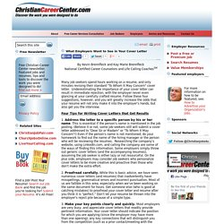 Do employers want a cover letter