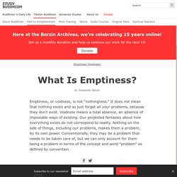 What Is Emptiness? — Study Buddhism