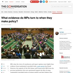 Research: what sort of evidence is valued by policy makers?