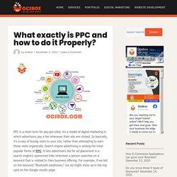 What exactly is PPC and how to do it Properly? - Ocsbox