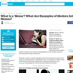 What Is an Internet 'Meme'? What Are the Top 30 Internet Memes?