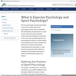 What Is Exercise Psychology and Sport Psychology?