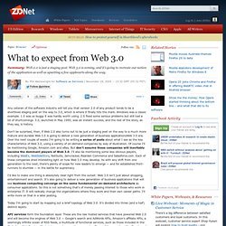 What to expect from Web 3.0 | Software as Services | ZDNet.com