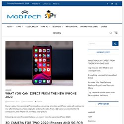 WHAT YOU CAN EXPECT FROM THE NEW IPHONE 2020 – MobiTechSpy