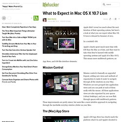 What to Expect in Mac OS X 10.7 Lion