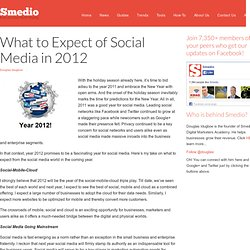 What to Expect of Social Media in 2012