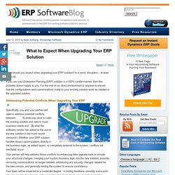 What to Expect When Your Upgrading Your ERP Solution