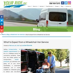 What to Expect from a Wheelchair Van Service
