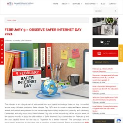 What to Know on February 9 - Safer Internet Day 2021