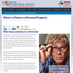 What's a Fixture vs Personal Property