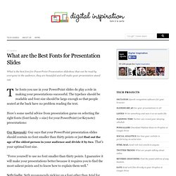 What are the Best Fonts for Presentation Slides