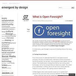 What is Open Foresight