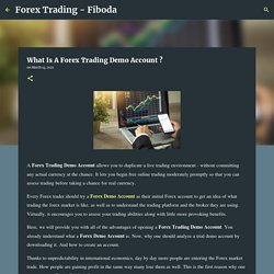What Is A Forex Trading Demo Account ?