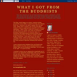 What I Got From the Buddhists: April 2010