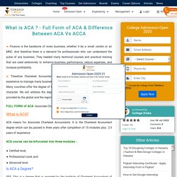 What is ACA ? - Full Form of ACA & Difference Between ACA Vs ACCA