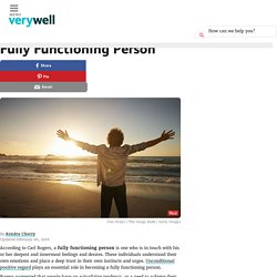 What Is a Fully Functioning Person?
