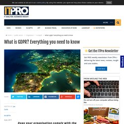 What is GDPR? Everything you need to know
