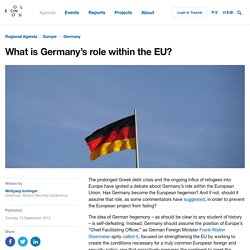 What is Germany's role within the EU?