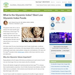 What Is the Glycemic Index? Best Low Glycemic Index Foods