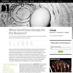 What Good Does Design Do For Business?