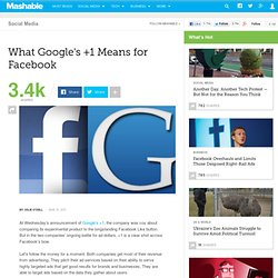 What Google's +1 Means for Facebook