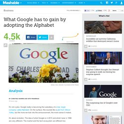 What Google has to gain by adopting the Alphabet