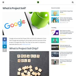 What is Google's Project Soli Chip