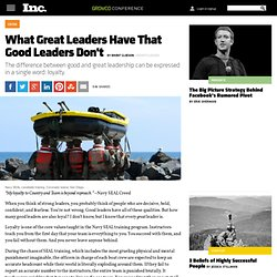 What Great Leaders Have That Good Leaders Don't