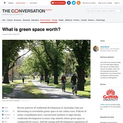 What is green space worth?