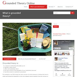 What is grounded theory?
