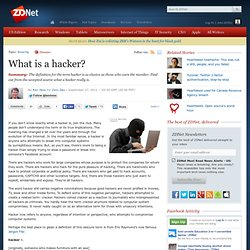 What is a hacker?