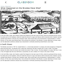 What Happened on the Brookes Slave Ship?