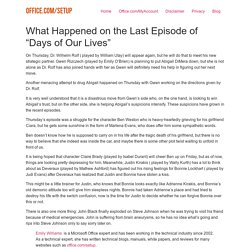 """What Happened on the Last Episode of """"Days of Our Lives"""""""