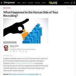 What Happened to the Human Side of Your Recruiting?