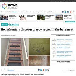Househunters discover creepy secret in the basement