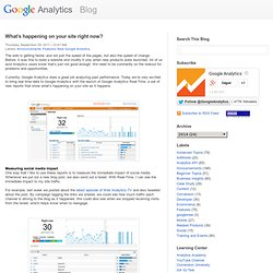 Google Analytics Blog: What's happening on your site right now?